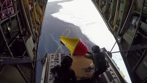 A-Buoy-Is-Dropped-From-A-C130-Aircraft-And-Deployed-In-The-Arctic-To-Measure-Sea-Ice-And-Global-Warming