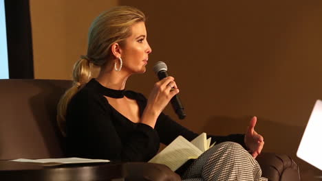 Ivanka-Trump-Answers-Questions-At-A-Public-Appearance-At-A-Military-Base