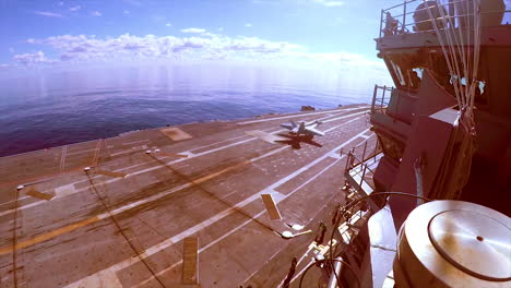 Aircraft-Carrier-Uss-Gerald-R-Ford-(Cvn-78)-Conducts-Flight-Operations-With-Jets-Landing