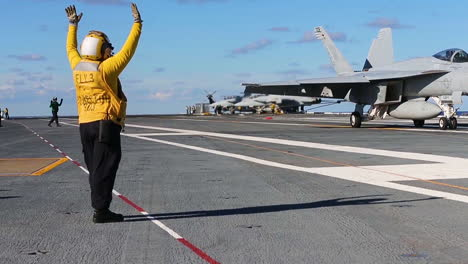 Aircraft-Carrier-Uss-Gerald-R-Ford-(Cvn-78)-Conducts-Flight-Operations-With-Jets-Landing-1