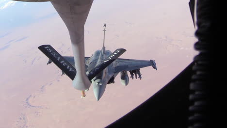 A-Midair-Refueling-Maneuver-Is-Conducted-By-The-Us-Air-Force