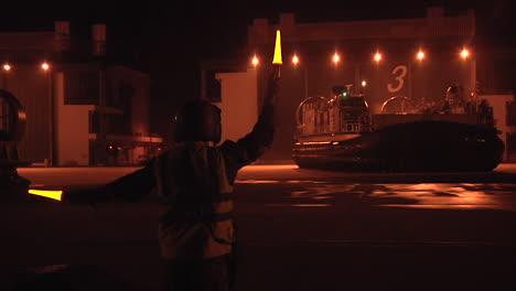Sailors-From-Naval-Beach-Unit-7-Practice-Night-Landing-Skills-With-Landing-Craft-Air-Cushion