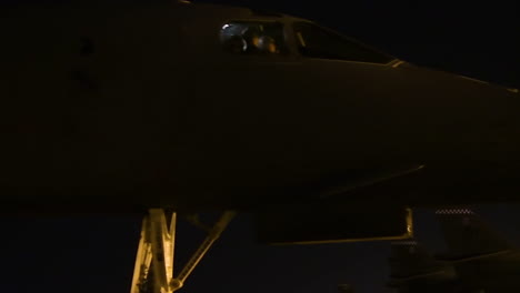 American-B1B-Nuclear-Bombers-Taxi-On-The-Runway-At-An-Airbase-At-Night-4