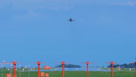 F22-Fighter-Jet-Taking-Off-From-An-Air-Force-Base