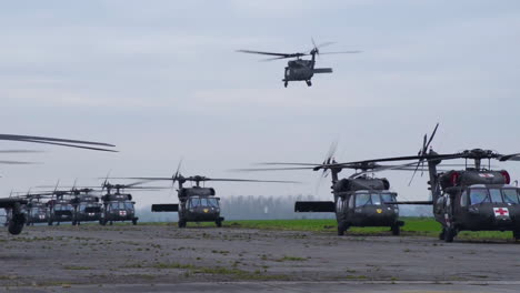 Black-Hawk-12-Ch47-Chinook-20Ah64-Apache-And-15-Hh60-Black-Hawk-Are-Staged-On-The-Airfield-Before-They-Leave-ChiVres-Air-Base-Belgium