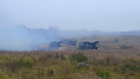 Nato-Live-Fire-Tank-Firing-Exercise-Of-The-Croatian-Volcano-Battery-The-First-Outside-Of-Croatia-And-With-The-Battle-Group-Poland-Near-Bemowo-Piskie-Training-Area-Poland-On-November-29-2017