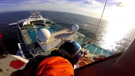 A-Sick-Injured-Passenger-Is-Rescued-From-A-Cruise-Ship-By-The-Us-Coast-Guard