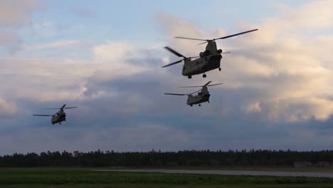Swedish-Army-Military-Helicopters-Hover-On-Extreme-Slow-Motion