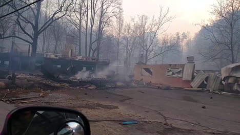 Ground-Level-View-Of-Urban-Area-Destroyed-By-Wildfire-Near-Gatlinburg-Tennessee-In-November-2016