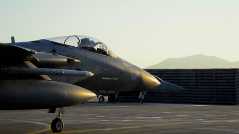 F15-Eagle-Jets-Taxi-On-A-Runway-At-Gwangju-Air-Base-South-Korea-In-Preparation-For-Escalating-Tensions-With-North-Korean