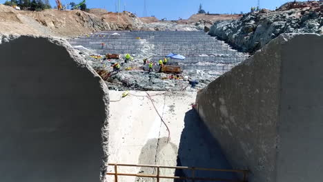 Aerial-Of-The-Construction-Of-A-New-Spillway-At-Oroville-Dam-California