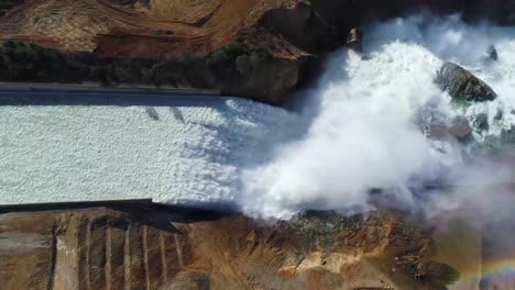 Spectacular-Aerial-Of-Water-Flowing-Through-The-Restored-New-Spillway-At-Oroville-Dam-California-2