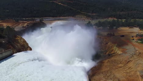 Spectacular-Aerials-Of-Water-Flowing-Through-The-Restored-New-Spillway-At-Oroville-Dam-California