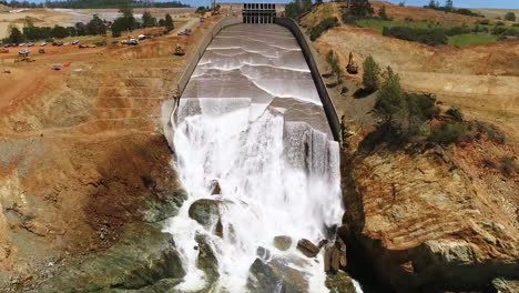 Spectacular-Aerials-Of-Water-Flowing-Through-The-Restored-New-Spillway-At-Oroville-Dam-California-6