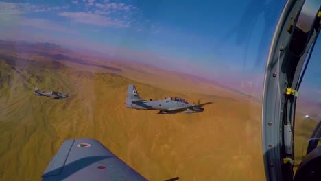 A-Squadron-Of-Aircrafts-From-The-Afghanistan-Air-Force-Flies-Over-The-Desert
