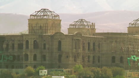 Scaffolding-On-The-Darul-Aman-Palace-Under-Reconstruction-Is-Seen