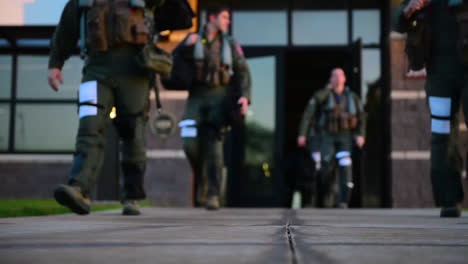Us-Airmen-Exit-A-Building-On-The-Pearl-Harbor-Joint-Base