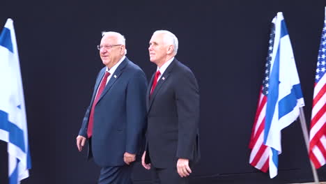 Mike-Pence-Llega-A-La-Residencia-Del-Presidente-Israelí-Rivlin-En-Jerusalén-