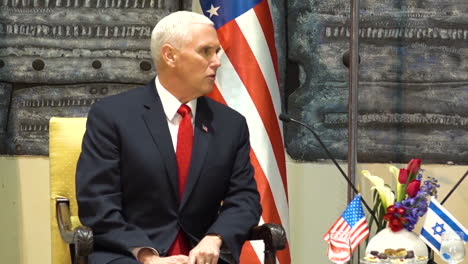 At-A-Press-Conference-With-Israeli-President-Rivlin-Mike-Pence-Talks-About-The-Iran-Nuclear-Deal