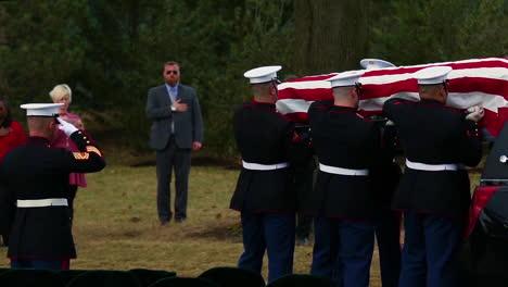 Los-Marines-De-Estados-Unidos-Transportan-El-Ataúd-De-La-Sargento-Catherine-Murray-En-Arlington
