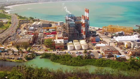 Vista-Aérea-Footage-Shows-An-Industrial-Area-Of-Puerto-Rico-In-Posthurricane-Recovery