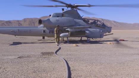 A-Us-Marine-Helicopter-Is-Seen-At-An-Air-Base