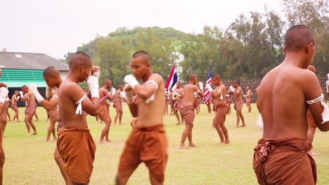 Thai-Marines-Perform-Drilling-Exercises-In-Traditional-Garb-To-Music