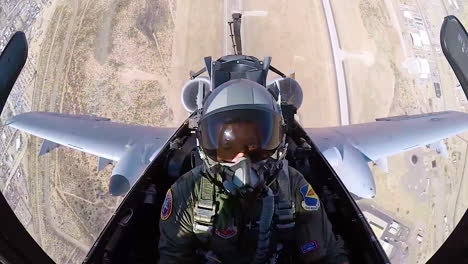 Footage-Shot-From-Inside-The-Cockpit-Shows-A-Usaf-Pilot-Performing-A-Vertical-540-Maneuver