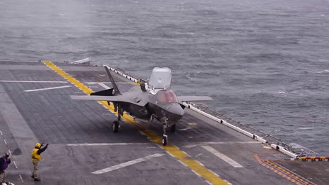 A-F35B-Lightning-Ii-Aircraft-Lands-On-The-Uss-Wasp