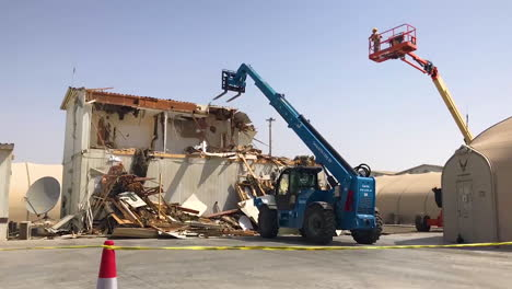 Time-Lapse-Video-Shows-The-380Th-Civil-Engineers-Unit-Tearing-Down-A-Building-On-The-Al-Dhafra-Air-Base