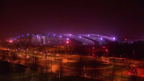 Timelapse-Photography-Shows-The-New-Nato-Headquarters-At-Night