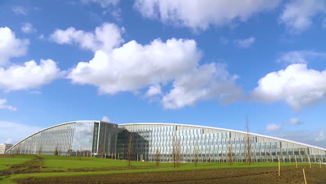 Timelapse-Photography-Shows-Clouds-Moving-Over-The-New-Nato-Headquarters-Building