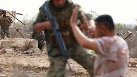 Iraqi-Soldiers-Perform-A-Mission-Rehearsal-Exercise-At-Camp-Taji