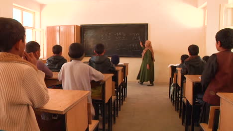 Young-Boys-And-Girls-Are-Seen-At-School-In-Kandahar-Afghanistan