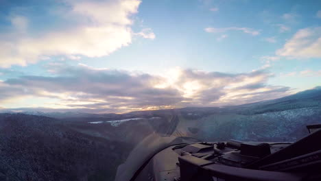 Footage-Shot-From-The-Cockpit-Of-A-Usaf-Plane-As-It-Flies-Over-Mountains