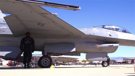 An-F16-Viper-Is-Driven-Down-An-Air-Force-Base-Runway
