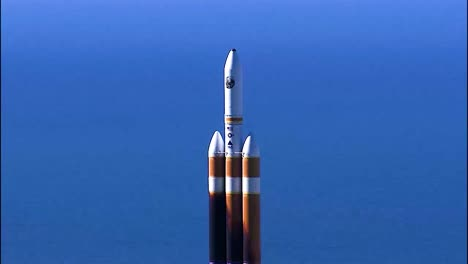 the-Successful-Launch-Of-A-Delta-Iv-Heavy-Rocket-From-Vandenberg-Air-Force-Base-California-2019