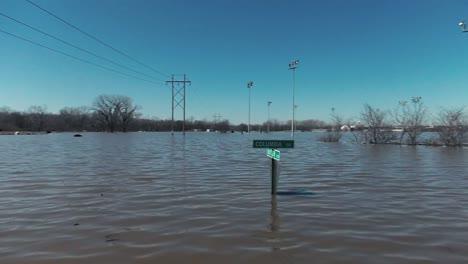 Shots-Of-Deep-Missouri-River-Flood-Waters-On-Offutt-Air-Force-Base-In-Sarpy-County-Nebraska