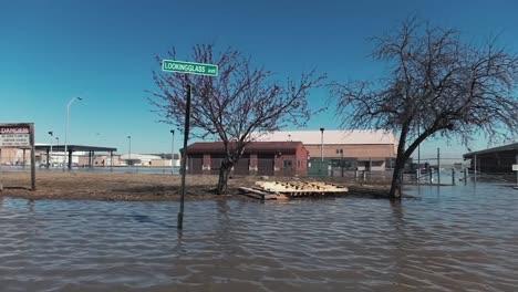 Shots-Of-Missouri-River-Flood-Waters-On-Offutt-Air-Force-Base-In-Sarpy-County-Nebraska