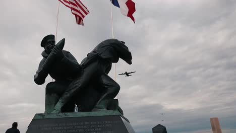 the-Us-Navy-Monument-At-Utah-Beach-On-the-75th-Commemoration-Of-Dday-2019