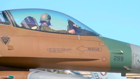Pilot-Is-Visible-As-A-Military-Jet-Taxis-At-Nellis-Air-Force-Base-Prior-To-the-Red-Flag-191-Exercise-2019
