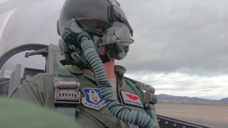 Cockpit-View-Of-A-Fighter-Pilot-As-He-Taxis-At-the-Nellis-Air-Force-Base-Prior-To-the-Red-Flag-191-Exercises-2019