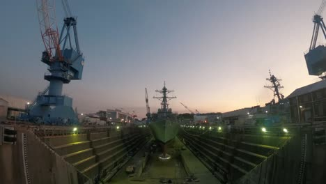 Time-Lapse-Of-the-Sun-Rising-On-the-Uss-John-S-Mccain-While-Dry-Docked-2018