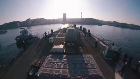 Time-Lapse-Of-the-Uss-John-S-Mccain-Departing-A-Dry-Dock-And-Transiting-To-A-Pier-2018