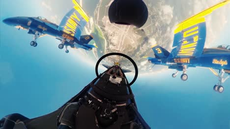 360-Footage-Of-the-Us-Navy-Flight-Demonstration-Squadron-the-Blue-Angels-Flying-In-Formation-Performing-A-Spectacular-Aerial-Loop-May-2-2019