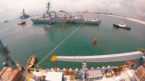 Timelapse-Of-the-Uss-John-S-Mccain-Being-Loaded-On-A-Heavy-Lift-Transport-Off-the-Coast-Of-Singapore-2017