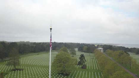 Aerial-Over-the-American-Military-Cemetery-Of-France-For-the-75th-Commemoration-Of-Dday-2019