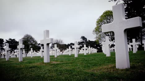 Gravestones-At-the-American-Military-Cemetery-Of-France-For-the-75th-Commemoration-Of-Dday-2019