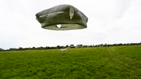 A-Paratrooper-Lands-Near-Saintemereeglise-France-For-the-75th-Commemoration-Of-Dday-June-9-2019