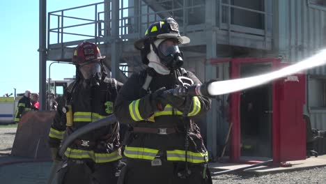 Firemen-Of-the-Armed-Forces-Go-Inside-A-Burning-Building
